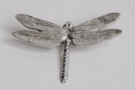 Ladycrow Pewter Brooch Dragonfly